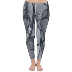 Abstract Black And White Background Classic Winter Leggings