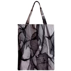 Abstract Black And White Background Zipper Classic Tote Bag