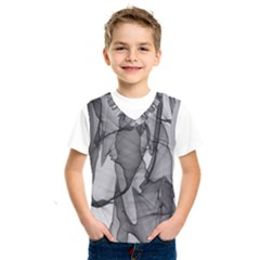 Abstract Black And White Background Kids  Sportswear