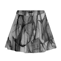 Abstract Black And White Background Mini Flare Skirt
