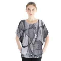 Abstract Black And White Background Blouse