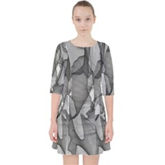 Abstract Black And White Background Pocket Dress