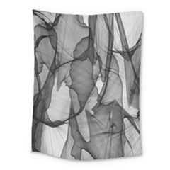 Abstract Black And White Background Medium Tapestry