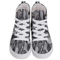Abstract Black And White Background Kid s Hi Top Skate Sneakers