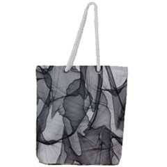 Abstract Black And White Background Full Print Rope Handle Tote (large)