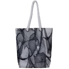 Abstract Black And White Background Full Print Rope Handle Tote (small)