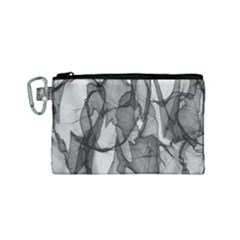 Abstract Black And White Background Canvas Cosmetic Bag (small)