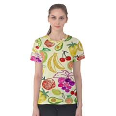 Seamless Pattern Desktop Decoration Women s Cotton Tee