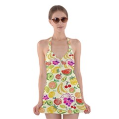 Seamless Pattern Desktop Decoration Halter Dress Swimsuit