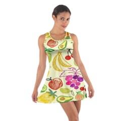 Seamless Pattern Desktop Decoration Cotton Racerback Dress