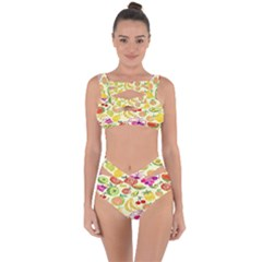 Seamless Pattern Desktop Decoration Bandaged Up Bikini Set