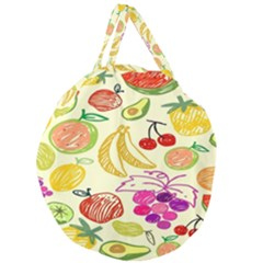 Seamless Pattern Desktop Decoration Giant Round Zipper Tote