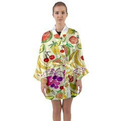 Seamless Pattern Desktop Decoration Long Sleeve Kimono Robe