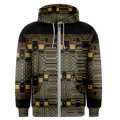Board Digitization Circuits Men s Zipper Hoodie