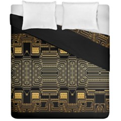 Board Digitization Circuits Duvet Cover Double Side (california King Size)