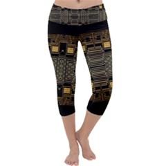 Board Digitization Circuits Capri Yoga Leggings