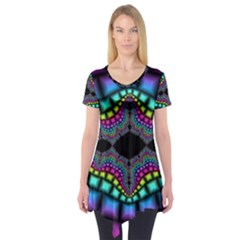 Fractal Art Artwork Digital Art Short Sleeve Tunic