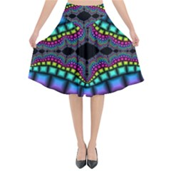 Fractal Art Artwork Digital Art Flared Midi Skirt