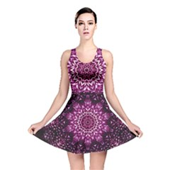 Background Abstract Texture Pattern Reversible Skater Dress
