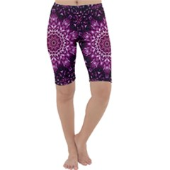 Background Abstract Texture Pattern Cropped Leggings