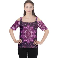 Background Abstract Texture Pattern Cutout Shoulder Tee