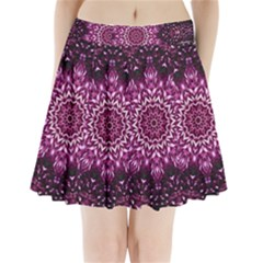 Background Abstract Texture Pattern Pleated Mini Skirt