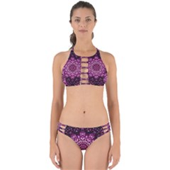 Background Abstract Texture Pattern Perfectly Cut Out Bikini Set