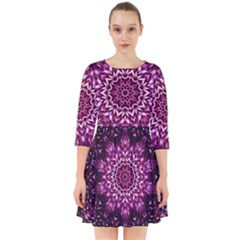 Background Abstract Texture Pattern Smock Dress