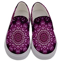 Background Abstract Texture Pattern Men s Canvas Slip Ons