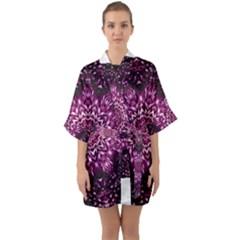 Background Abstract Texture Pattern Quarter Sleeve Kimono Robe