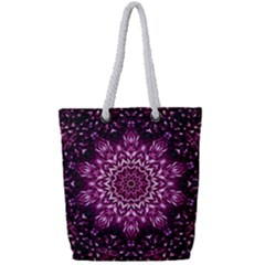 Background Abstract Texture Pattern Full Print Rope Handle Tote (small)