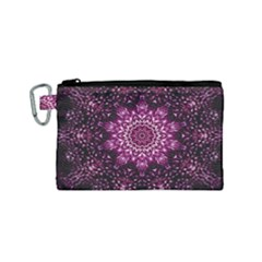 Background Abstract Texture Pattern Canvas Cosmetic Bag (small)