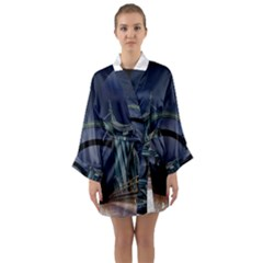 Bridge Mars Space Planet Long Sleeve Kimono Robe