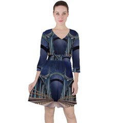 Bridge Mars Space Planet Ruffle Dress