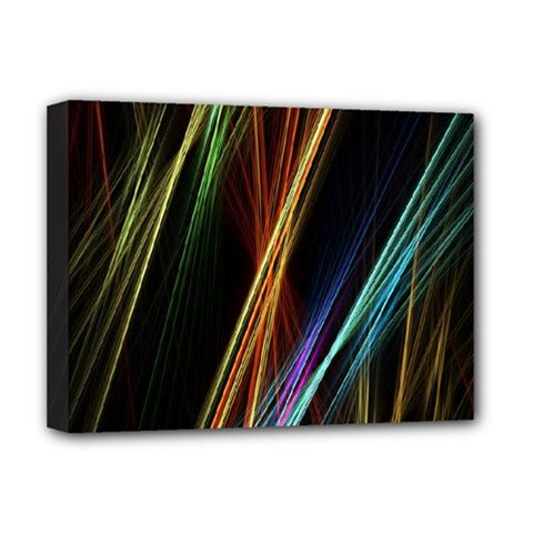 Lines Rays Background Light Deluxe Canvas 16  X 12