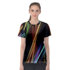 Lines Rays Background Light Women s Sport Mesh Tee