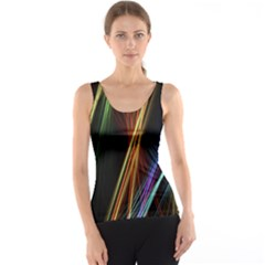 Lines Rays Background Light Tank Top