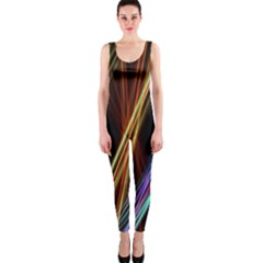 Lines Rays Background Light Onepiece Catsuit