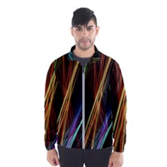 Lines Rays Background Light Wind Breaker (men)