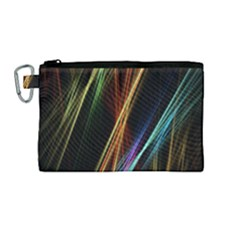 Lines Rays Background Light Canvas Cosmetic Bag (medium)