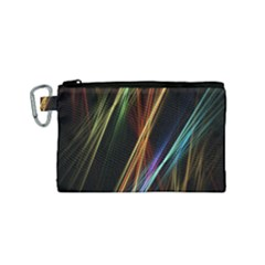 Lines Rays Background Light Canvas Cosmetic Bag (small)