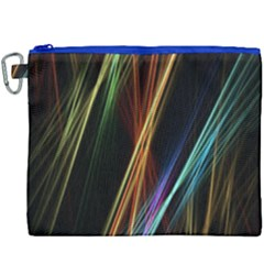 Lines Rays Background Light Canvas Cosmetic Bag (xxxl)