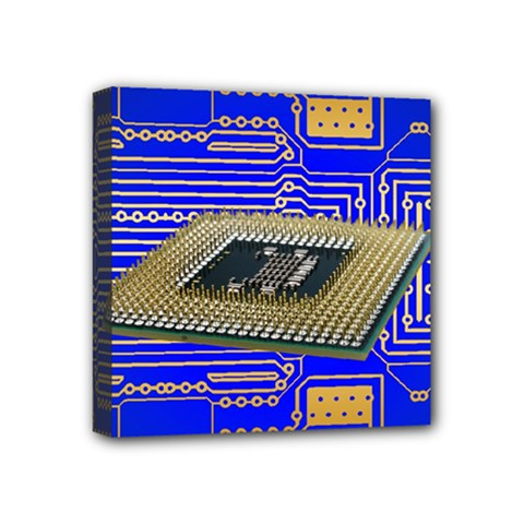 Processor Cpu Board Circuits Mini Canvas 4  X 4