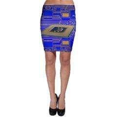 Processor Cpu Board Circuits Bodycon Skirt