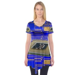 Processor Cpu Board Circuits Short Sleeve Tunic