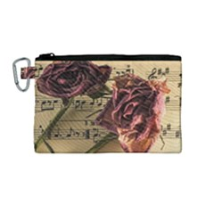 Sheet Music Manuscript Old Time Canvas Cosmetic Bag (medium)