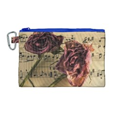 Sheet Music Manuscript Old Time Canvas Cosmetic Bag (large)