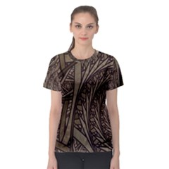 Abstract Pattern Graphics Women s Sport Mesh Tee