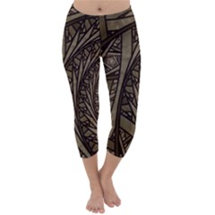 Abstract Pattern Graphics Capri Winter Leggings