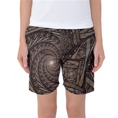 Abstract Pattern Graphics Women s Basketball Shorts